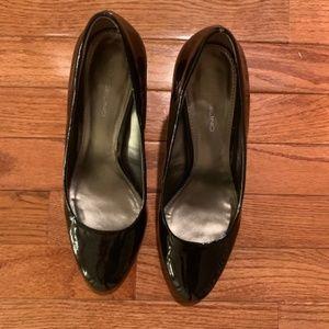 Black Patent Heel